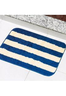 Tapete Para Banheiro Tapetes Júnior Topázio Em Polipropileno 40X60Cm Azul Petróleo
