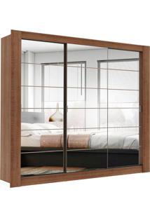 Guarda-Roupa Casal Campos Rustic 3 Portas Espelho Madesa