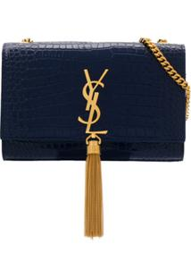 Saint Laurent Bolsa Transversal Kate Pequena - Azul