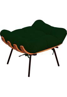 Puff Decorativo Sala De Estar Costela Suede Verde Musgo - Lyam Decor