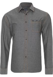 Camisa Masculina Casual - Preto