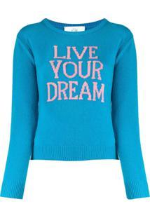 Alberta Ferretti Live Your Dream Slim-Fit Jumper - Azul