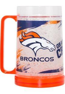 Caneca Chopp Edimagic Térmica Denver Broncos - Nfl Laranja