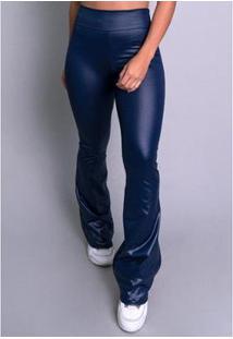 Calça Mvb Modas Pantalona Flare Cirrê Feminina - Feminino