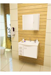Gabinete Armarinho Para Banheiro Gabinetto Conjunto Monza 4505 Cor Branco