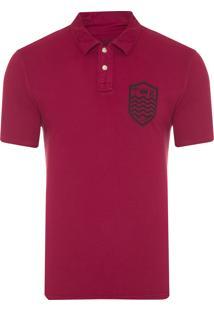 Camisa Masculina Polo Stone Brasão - Vermelho