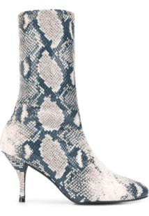 Stuart Weitzman Python Pattern Ankle Boots - Neutro