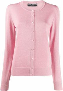 Dolce & Gabbana Cardigan Com Brilhos - Rosa