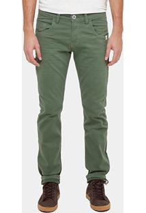 Calça Skinny Rock & Soda Color Five Pockets Masculina - Masculino-Verde Militar