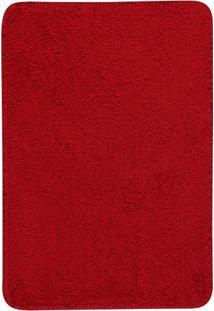 Tapete Para Banheiro- Vermelho- 60X45Cm- Oasisoasis