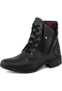 Bota Elegancy Ankle Bootzipers Preto - Tricae