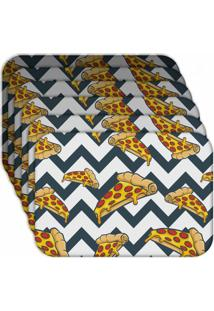 Jogo Americano - Love Decor Pizza Geometric Kit Com 6 Peças - Kanui