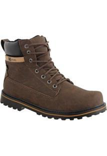 Bota Couro Cr Shoes Masculina - Masculino-Marrom