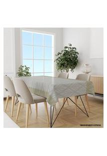 Toalha De Mesa Retangular Para 6 Lugares Flor Abstrata 1.45M X 2.20M Único