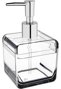 Porta Sabonete Líquido 330 Ml Cube Cristal Coza