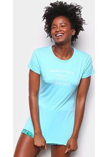 Camiseta Colcci Stay True Feminina - Feminino-Azul Petróleo