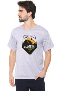 Camiseta Eco Canyon Climbing Cinza