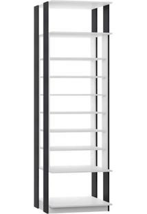 Guarda-Roupa Closet Prateleiras Clothes Branco E Cinza