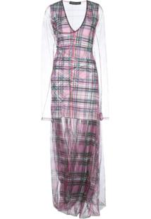 Y/Project Check Print Layered Dress - Rosa