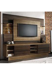 Estante Home Para Tv Até 55 Polegadas Aron Espresso Móveis Capuccino Wood / Ébano