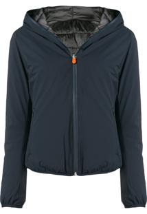 Save The Duck Hooded Jacket - Azul