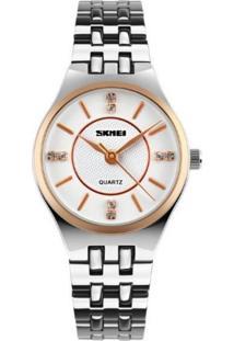 Relógio Skmei Analógico 1133 Branco