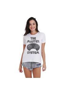 Camiseta Jay Jay Basica The Master System Branca Dtg