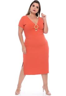 Vestido Fivela Ribana Plus Size