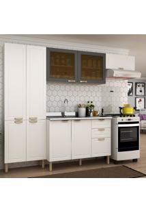 Cozinha Completa 4 Peças Americana Multimóveis 5681 Branco/Grafite