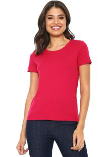 Camiseta Tommy Hilfiger Básica Pink