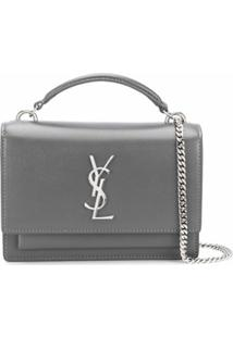 Saint Laurent Bolsa Tiracolo Sunset - Cinza