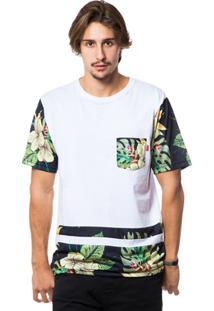 Camiseta Asphalt Sleeve Flwrs Masculina - Masculino