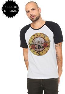 Camiseta Bandup! Guns N' Roses Branca/Preta