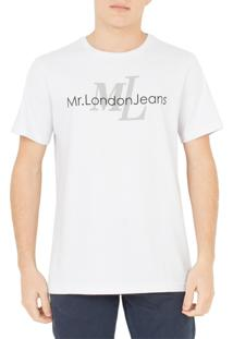Camiseta Mr. London Logo Branca