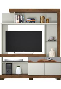 "Estante Home Copacabana Para Tvs De 50"" Off White/Nogueira"