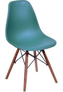 Cadeira Eames Dkr- Azul Petrã³Leo & Madeira Escura- 8Or Design