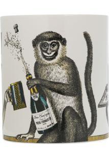 Fornasetti Vela Com Estampa Monkey - Branco