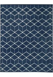Tapete Ambiance Retangular Poliéster (100X150) Azul
