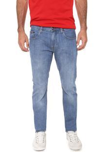 Calça Jeans Tommy Hilfiger Reta Lisa Azul