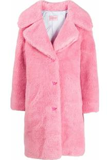 Chiara Ferragni Fluffy Oversized Coat - Rosa