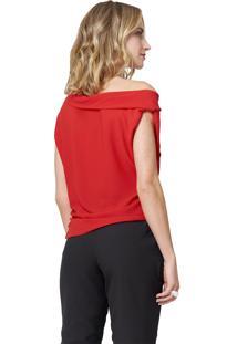 Blusa Mx Fashion Com Amarração Vitória Vermelha