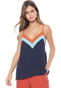 Regata Dress To Tricolor Azul-Marinho
