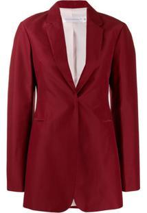 Victoria Beckham Blazer Com Abotoamento Único - Vermelho