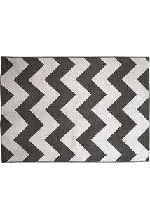 Tapete Belga Geometric Desenho 07 2.00X3.00 - Edantex - Preto / Branco
