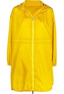 Moncler Logo Drawstring Raincoat - Amarelo