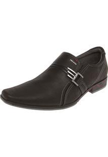 Sapato Social Pegada Bico Quadrado Preto