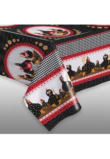 Toalha De Mesa Tã©Rmica Impermeã¡Vel 1,50X1,40 Galinha Gourmet - Multicolorido - Dafiti