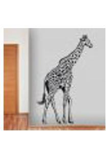 Adesivo De Parede Animais Girafa - P 80X50Cm