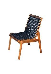 Cadeira Trama Corda Preta Estrutura Stain Jatoba 52Cm - 53172 Preto