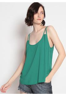 Blusa Texturizada Com Recortes- Verde Escuro- Sommersommer